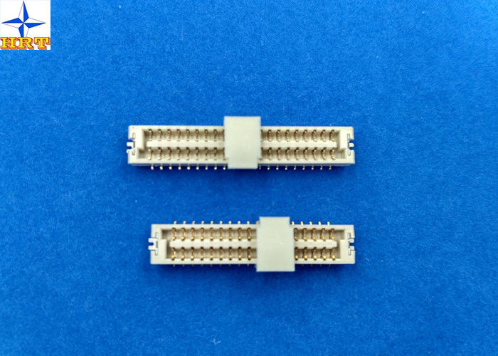 Light Yellow LCP 1.25mm Pitch Connector , Wire To Board Terminal Connector One Row